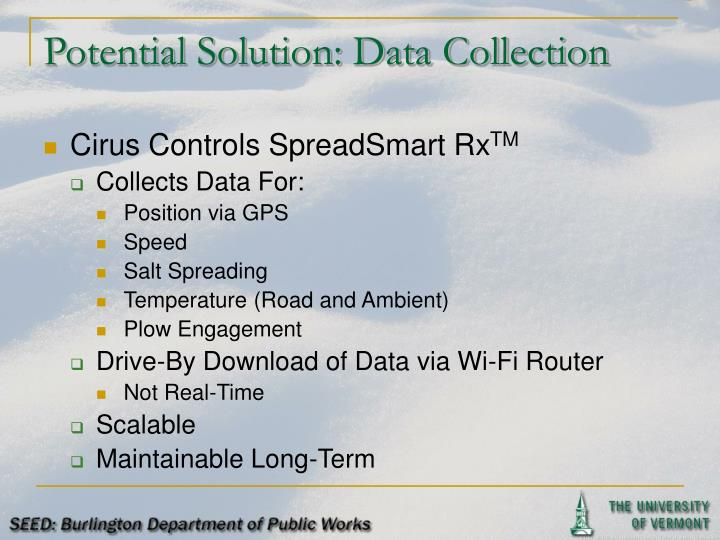 Potential Solution: Data Collection