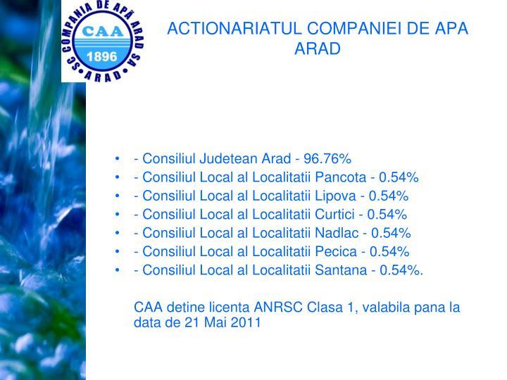 - Consiliul Judetean Arad - 96.76%