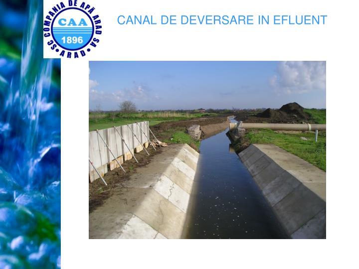 CANAL DE DEVERSARE IN EFLUENT