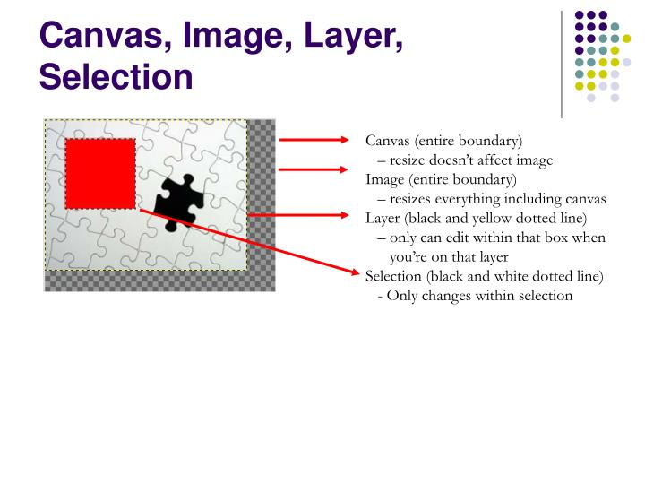 Canvas, Image, Layer, Selection