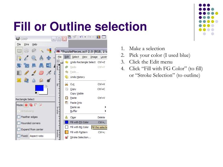 Fill or Outline selection