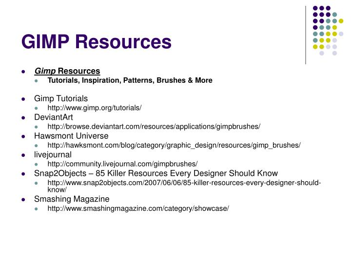 GIMP Resources