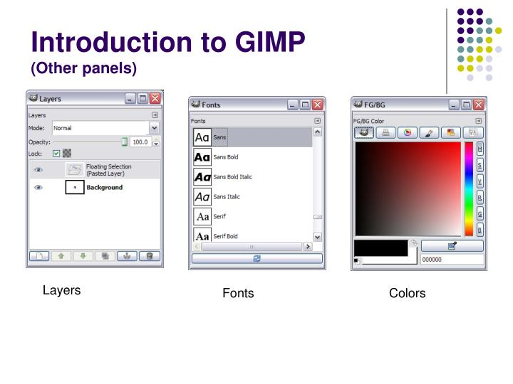 Introduction to GIMP