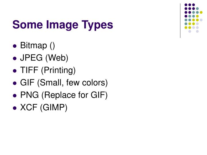 Some image types