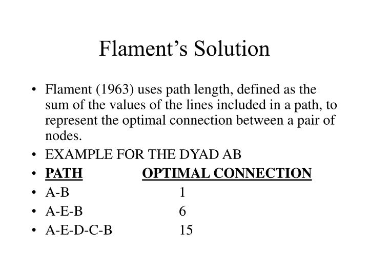 Flament's Solution