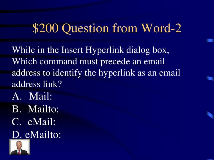 $200 Question from Word-2