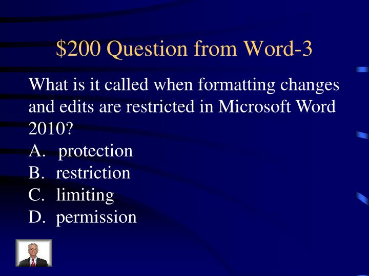 $200 Question from Word-3