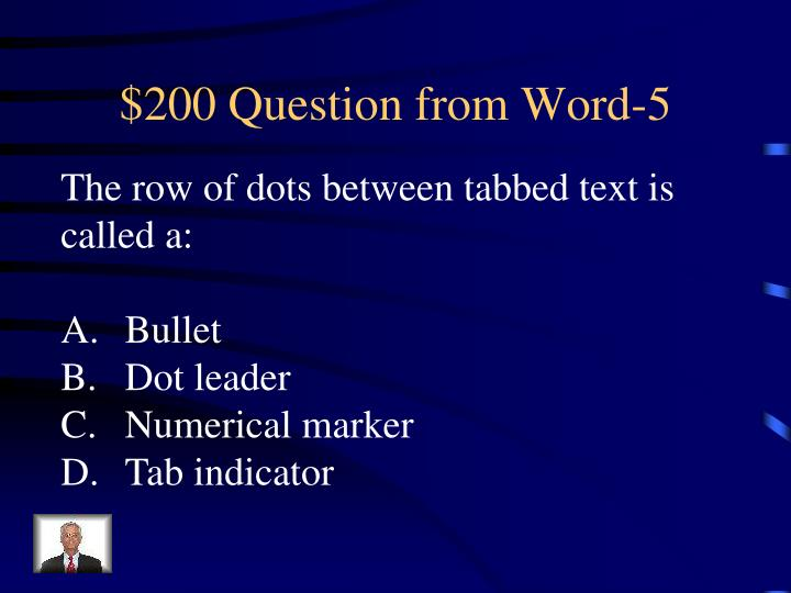 $200 Question from Word-5