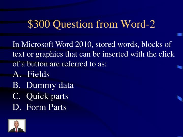$300 Question from Word-2