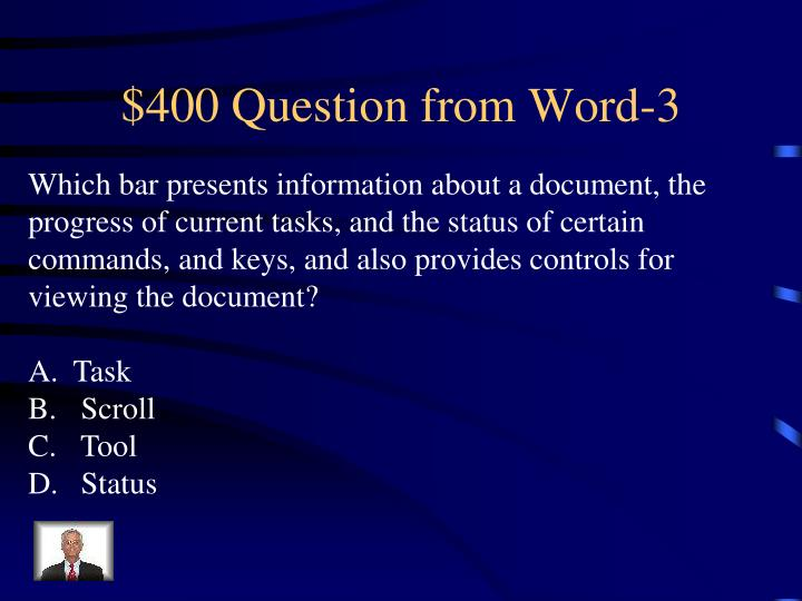 $400 Question from Word-3