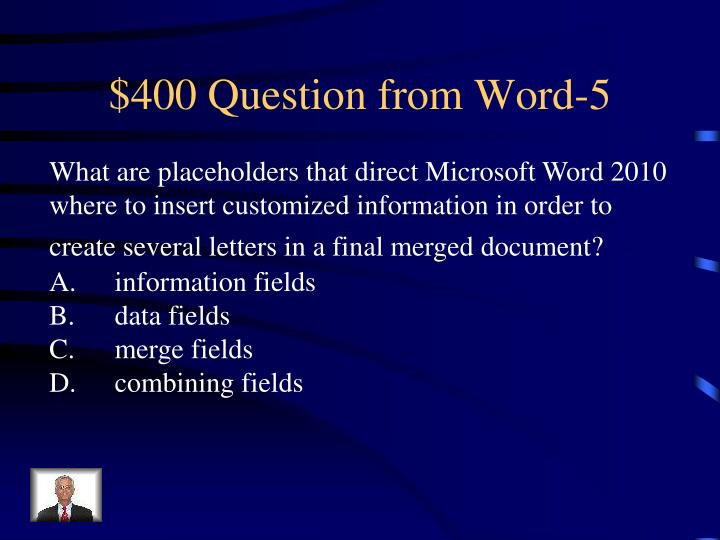 $400 Question from Word-5
