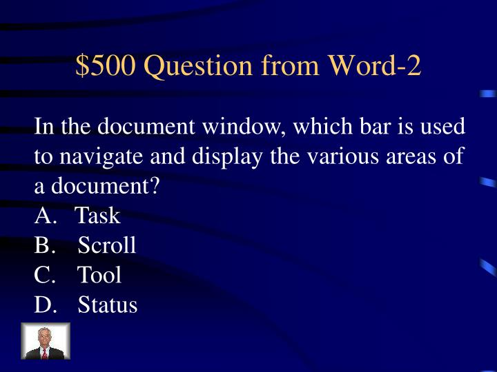 $500 Question from Word-2