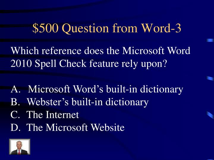 $500 Question from Word-3