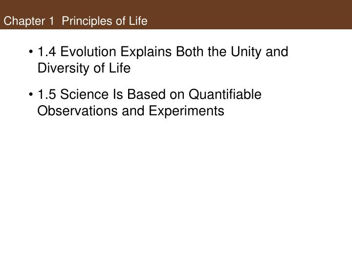 Chapter 1 principles of life1