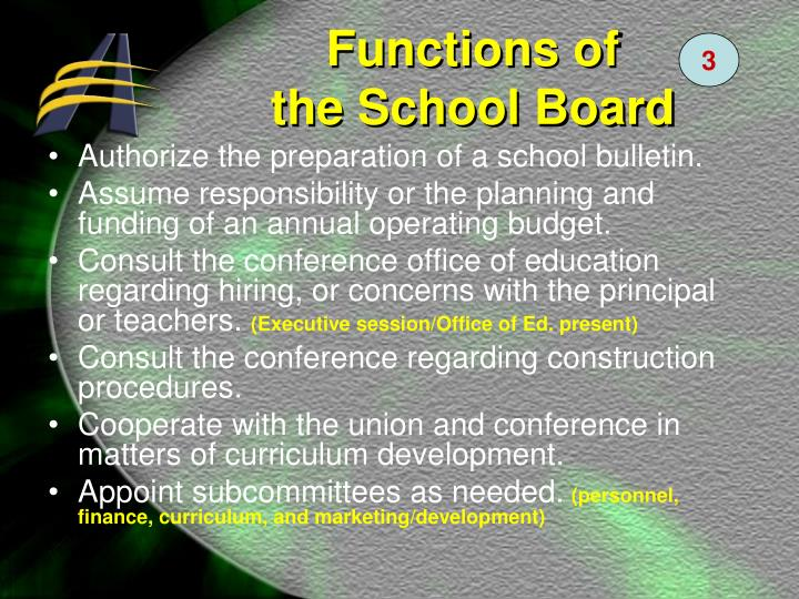 Authorize the preparation of a school bulletin.