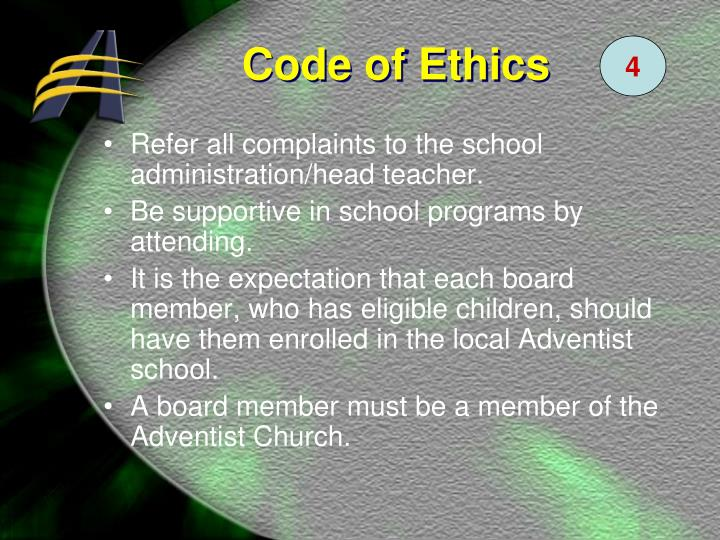 Refer all complaints to the school administration/head teacher.