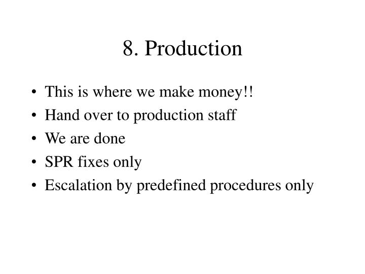 8. Production