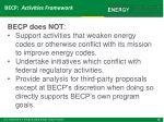 becp activities framework8