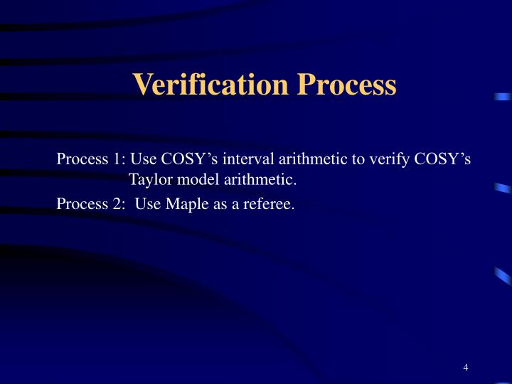 Verification Process