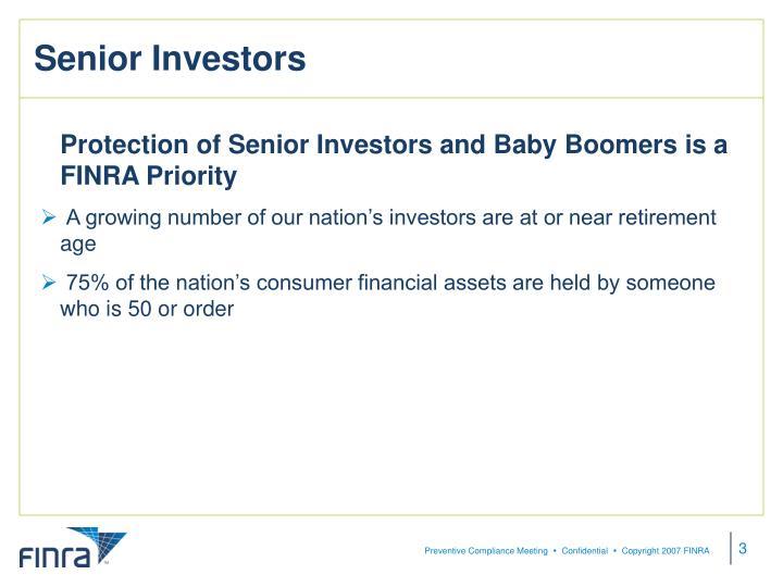 Senior Investors