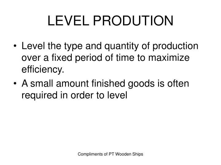 LEVEL PRODUTION