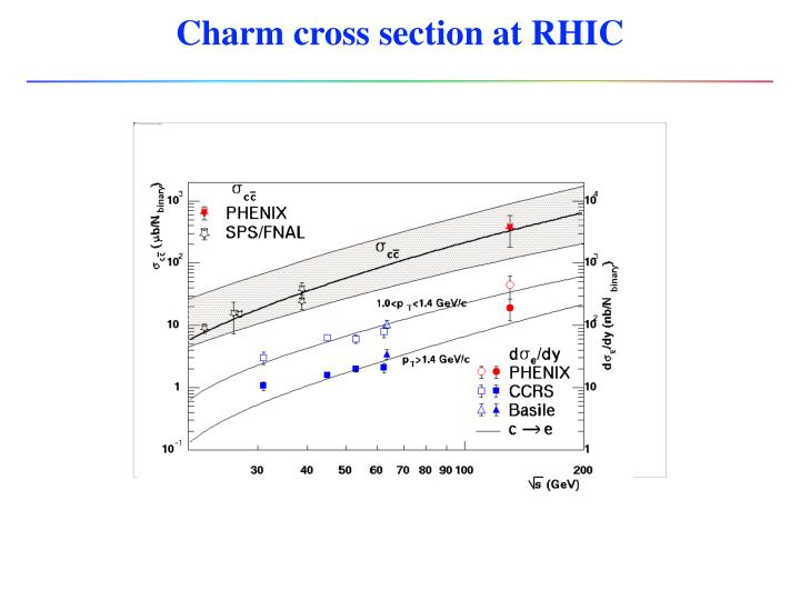 Charm cross section at RHIC