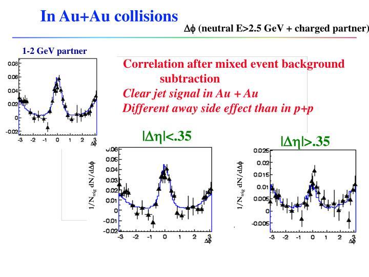 In Au+Au collisions