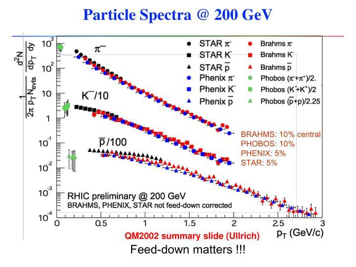 Particle Spectra @ 200 GeV