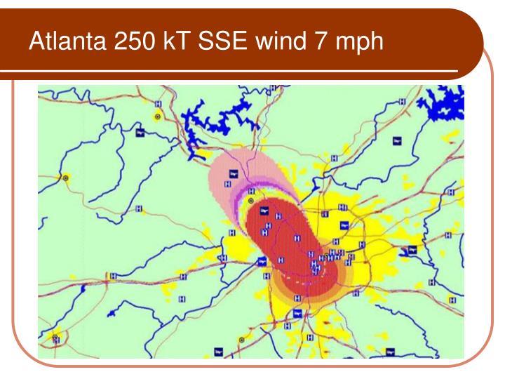 Atlanta 250 kT SSE wind 7 mph