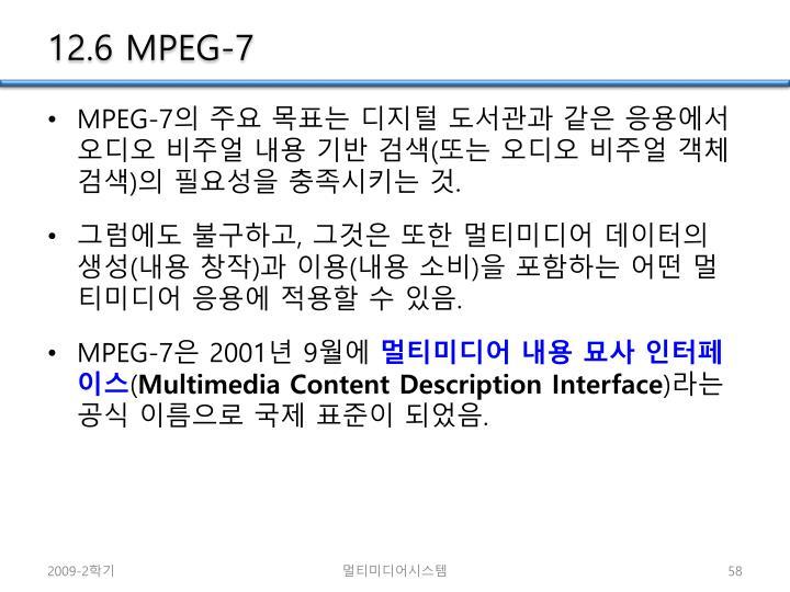 12.6 MPEG-7