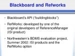 blackboard and refworks