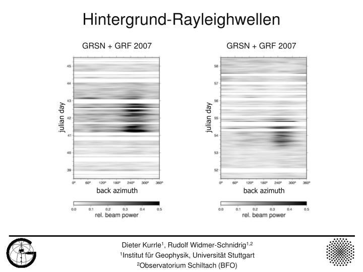 GRSN + GRF 2007                                 GRSN + GRF 2007
