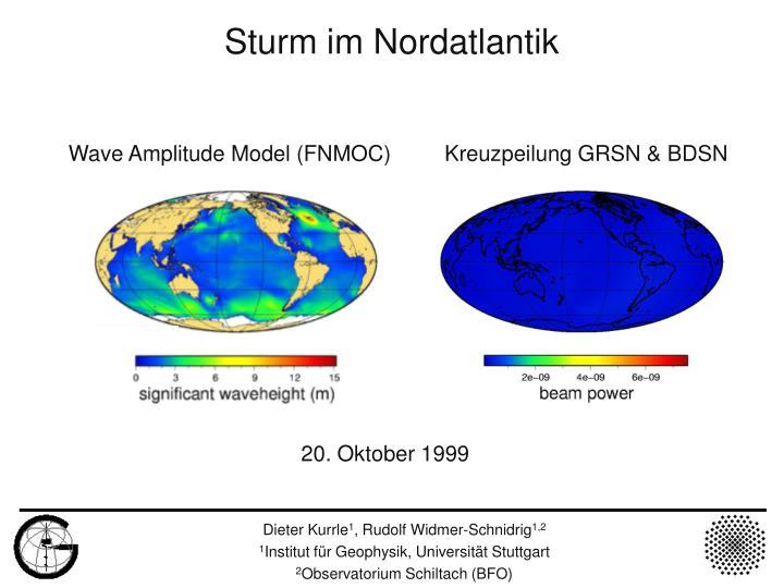 Wave Amplitude Model (FNMOC)         Kreuzpeilung GRSN & BDSN