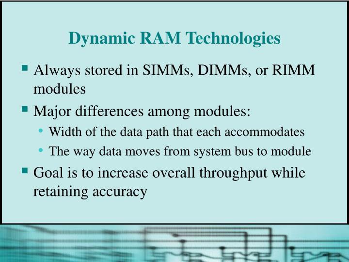 Dynamic RAM Technologies