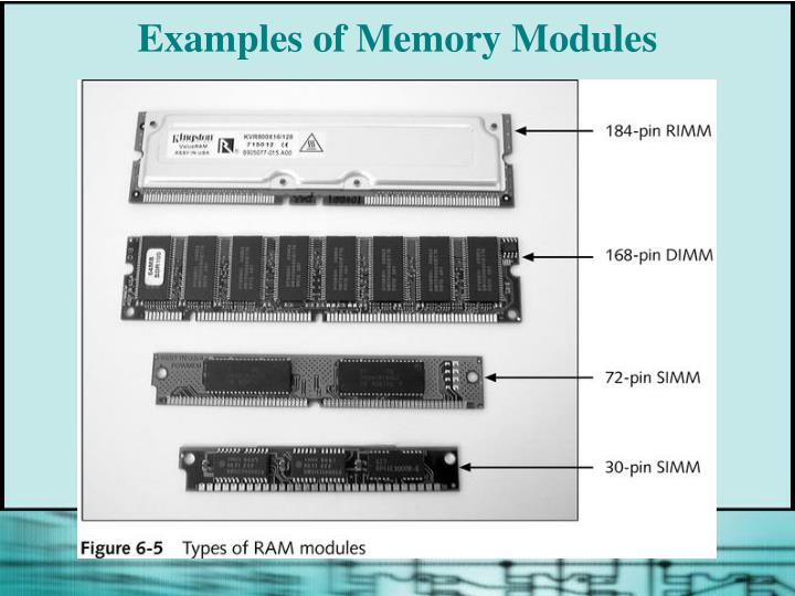 Examples of Memory Modules
