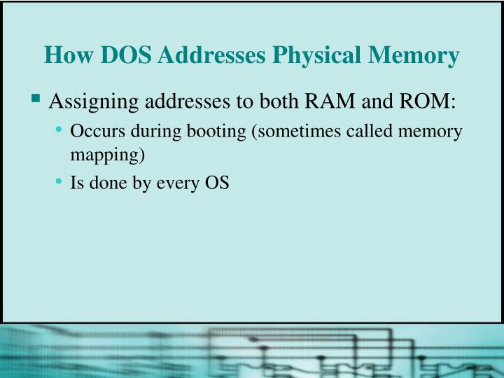 How DOS Addresses Physical Memory