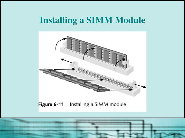 Installing a SIMM Module