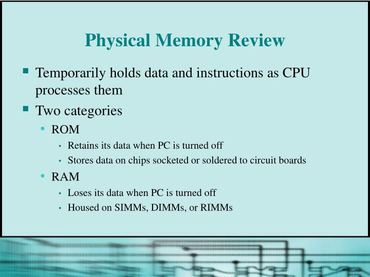 Physical memory review