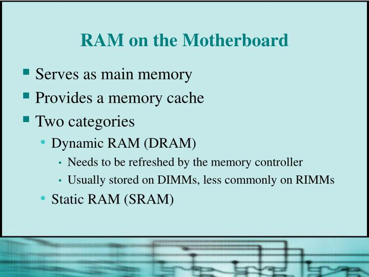 RAM on the Motherboard