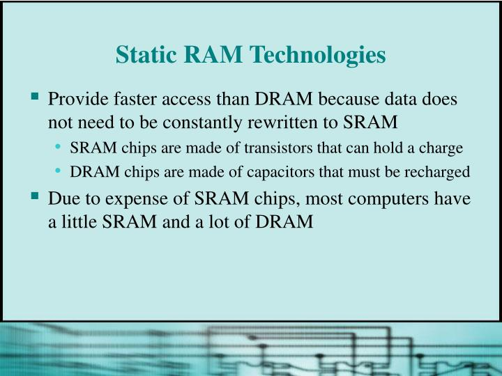 Static RAM Technologies