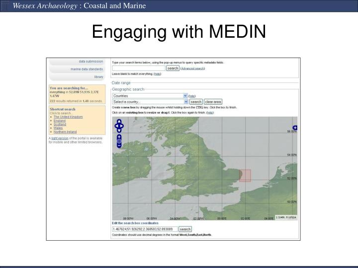 Engaging with MEDIN