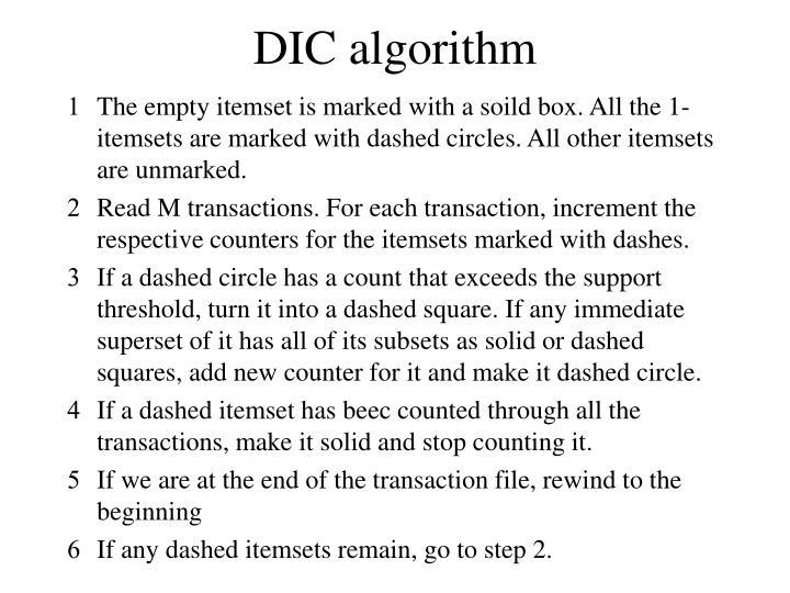 DIC algorithm