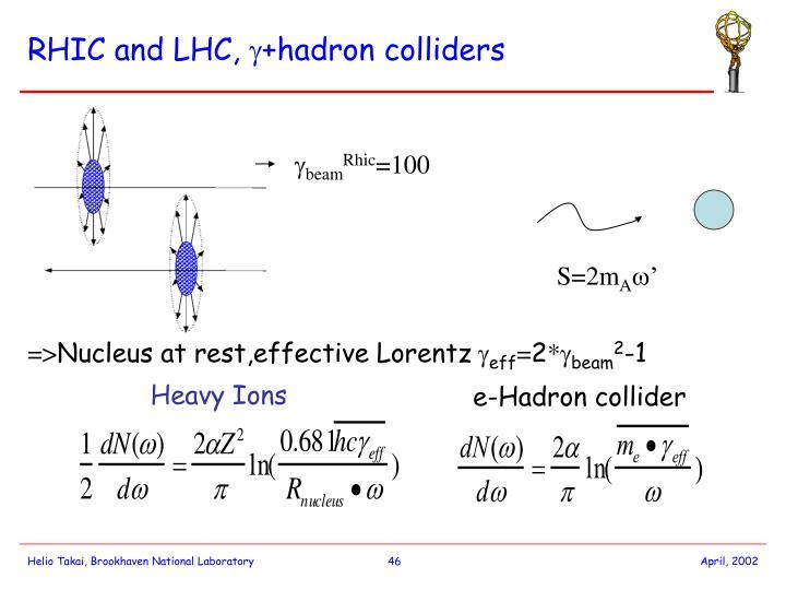 RHIC and LHC,