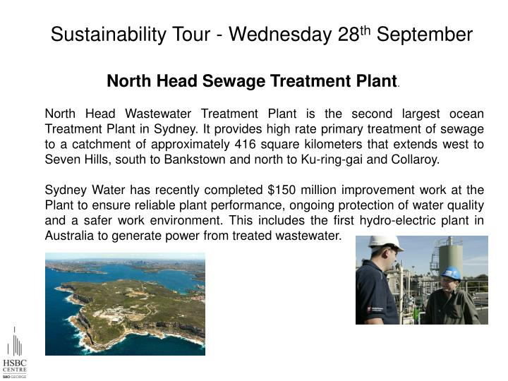 Sustainability Tour - Wednesday 28