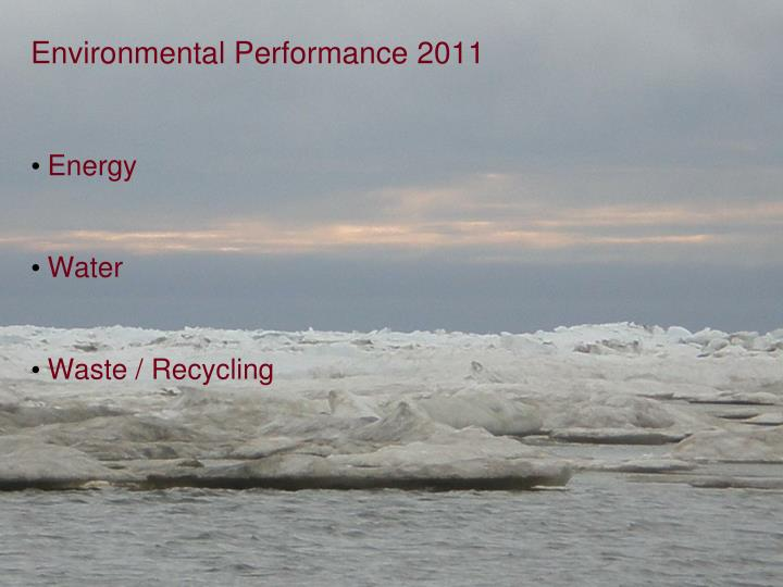 Environmental Performance 2011