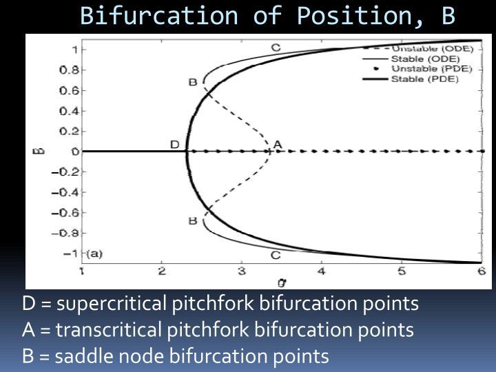 Bifurcation of Position, B