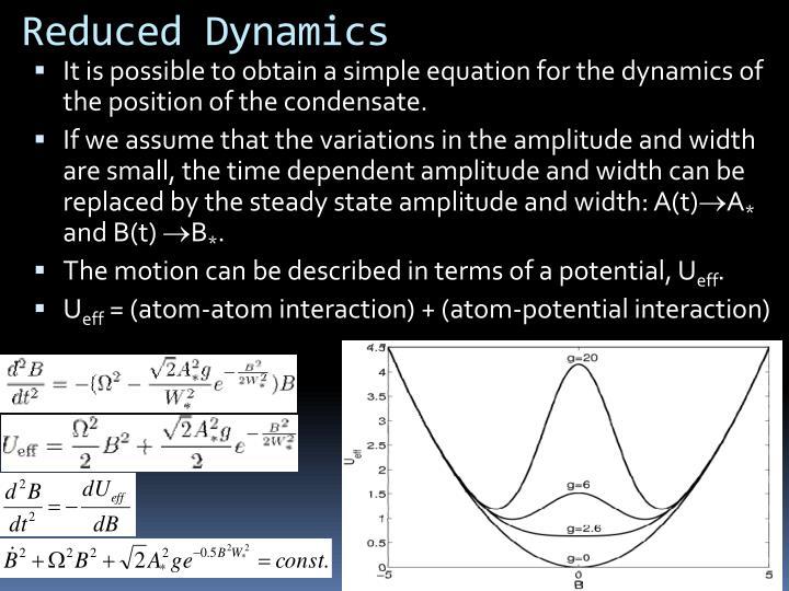 Reduced Dynamics