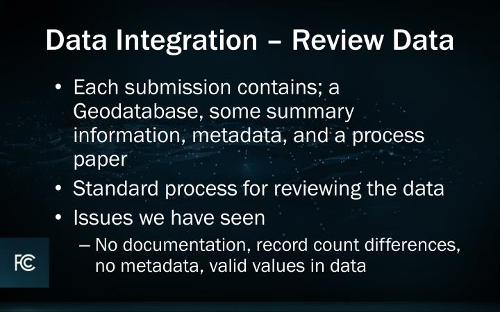 Data Integration – Review Data