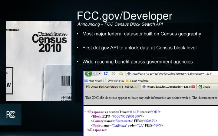 •   Most major federal datasets built on Census geography