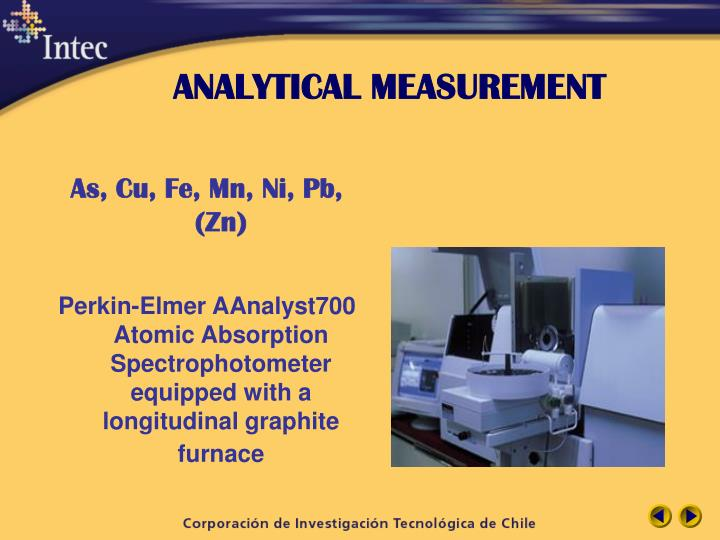 Analytical measurement